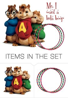 """""""The Chipmunk Song~ Video Below"""" by sjlew ❤ liked on Polyvore featuring art"""