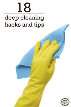 Because who wants to spend the whole day cleaning?  I already incorporate some of these tips.  Guess I'm not in too bad of shape. Deep Cleaning Hacks - Kids Activities Blog