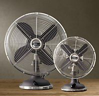 Allaire Desk Fan Grey | Fans | Restoration Hardware