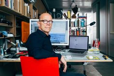 Erik Spiekermann in his Berlin home