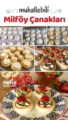 Videolu anlatım Muhallebi Dolgulu Milföy Çanakları Tarifi (Videolu) nasıl yapılır? 4.183 kişinin defterindeki bu tarifin videolu anlatımı ve deneyenlerin fotoğrafları burada. Yazar: NYT Mutfak My Recipes, Dessert Recipes, Desserts, Keks Dessert, Mini Tart, Types Of Cakes, Food Words, Sweet And Salty, Holiday Treats