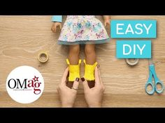 DIY Wellie Boots for Your Doll | OMaG | American Girl - YouTube