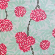 Mint Fleur Chinoise Fabric (New Dye Lot)