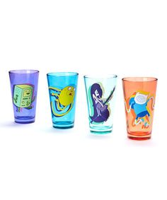 This Adventure Time Dance Glass Set by Adventure Time is perfect! #zulilyfinds