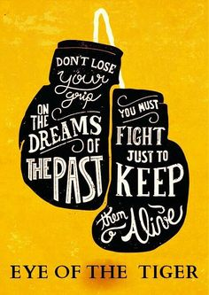 Eye of the tiger #dreams #fight typography // follow us @motivation2study for daily inspiration