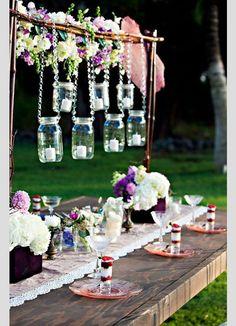 Centros de mesa flotantes para tu boda #boda #decoración