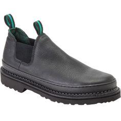 Men's Black Slip-On Georgia Giant Romeo Work Shoes - Style #GR270