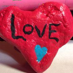 Love painting in rock by Helen