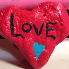 Love painting in rock by Helen