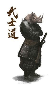 Rhino samurai