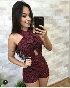 ❤Vestidos hermosos❤ Sexy Outfits, Sexy Dresses, Trendy Outfits, Cute Dresses, Dress Outfits, Cool Outfits, Summer Outfits, Girl Fashion, Fashion Looks