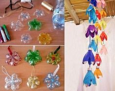 Plastic Bottle House, Plastic Bottle Flowers, Plastic Bottle Crafts, Plastic Bottles, Recycled Bottles, Recycled Crafts, Crafts To Make, Crafts For Kids, Diy Crafts