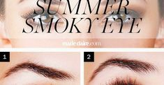 How To Get a Bronze Summer Smoky Eye Blogger : Beauty Bets   Photo : Source     Step 1 and 2. Bronze shadow works for every eye color. Press a medium bronze shadow from lash ...