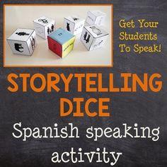 Spanish Speaking Activity - Word Order, Vocabulary and Gra Spanish Conversation, Word Order, Spanish Games, Grammar Practice, Spanish Classroom, How To Speak Spanish, Future Classroom, Vocabulary, Storytelling