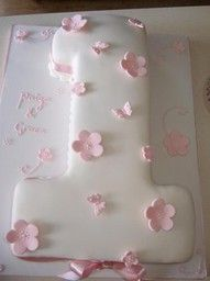 #1 Cake for Baby Girl-Use pink snow flakes instead of flowers for winter theme