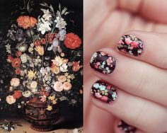 jan brueghel the elder - my favorite flower painting on nails.  very cool