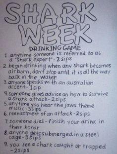 Shark Week Drink Game