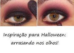 Outra dica para a festa de Halloween, é diferenciar a make dos olhos! Afinal, os olhos são a janela da alma, não é?