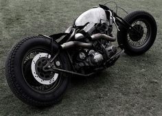 Awesome build, but no idea how you'd ride it without getting burned on the pipes...for this bike, I'd find a way.