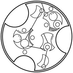 """It hurt because it mattered"" written in circular Gallifreyan requested by totallyawesomestarkidfan"