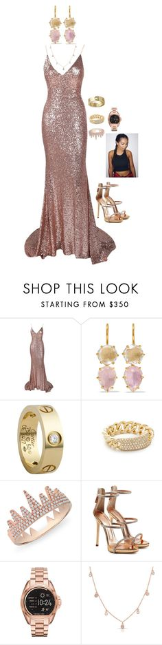 """""""Carmen: Hall of Fame 2017"""" by lsd-and-halloweencandy ❤ liked on Polyvore featuring Larkspur & Hawk, Cartier, Shay, Anne Sisteron, Giuseppe Zanotti and Michael Kors"""
