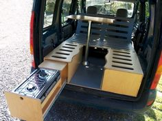 Minibus camper conversion from wood - carpentry joinery Kleinbus Wohnmobil Umbau aus Holz – Zimmerei Tischlerei … Minibus camper conversion from wood – carpentry joinery …, - Minivan Camping, Auto Camping, Truck Camping, Tent Camping, Camping Store, Camping Hacks, Camping Cabins, Mini Camper, Camper Life