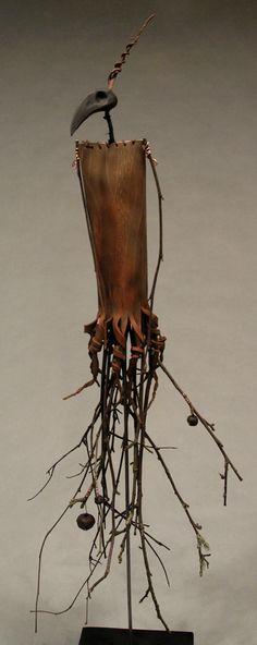 Scarecrow - Forgotten objects, Figurative Sculpture