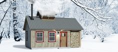Off Grid Shelters - Sugar Shack Rustic Bathrooms, Building A Shed, Little Houses, Tiny Houses, Make Happy, Cabins In The Woods, House Plans, House Design, How To Plan