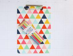 Modern Triangle Clipboard | @giftryapp