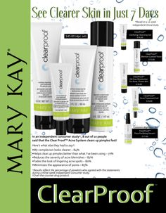 Free Printable flyer for the new Mary Kay® ClearProof Acne System | QT Office Blog