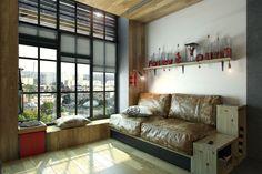 Apartamento pequenininho pequenas em Kharkov por One Studio (2)