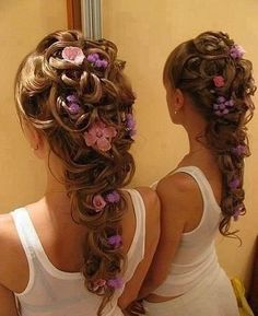 I choose this because I love the hair.  It is so messy yet organized, and pretty.  I love the flowers stuck in it.