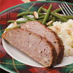 Savory Meat Loaf Recipe -Everyone loves this tender meat loaf, which is seasoned with a hint sage. It's good for family get-togethers, picnics and Super Bowls parties. You're sure to get rave reviews whenever you serve it.                                               —Edie DeSpain of Logan, Utah