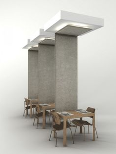 Felt room divider BUZZIWINGS by BuzziSpace