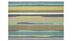 A pure woollen rug, Cressida is woven in the UK using a traditional Axminster loom. This modern design is based on an original Sanderson textile, which updates the traditional stripes by adding a rough edge. The palette of bright and moody colours i Modern Rugs, Rugs Online, Bedroom Furniture, Colours, Interior Design, Home Decor, Bed Furniture, Nest Design, Decoration Home