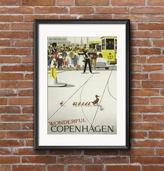 Wonderful CopenhagenDenmark Europe by MarksVintagePosters on Etsy