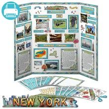 Example New York State Report made with the pieces in this pack. Easily decorate your own report with this printable pack! Add titles, captions, border and more.