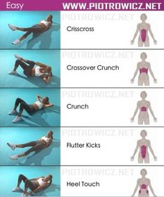 Easy Female Abs Workout - Sixpack Exercises by LUVWUT