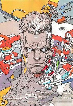Katsuya Terada 寺田 克也 - Ghost in the Shell Manga Anime, Comic Anime, Art Manga, Art Anime, Anime Comics, Comic Art, Character Concept, Character Art, Concept Art