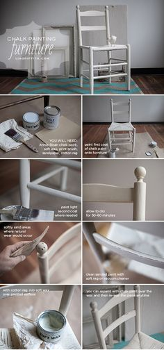 Hand Painted Furniture using Annie Sloan Chalk Paint Tutorial {gives it a vintage feel} // Lia Griffith