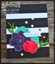 Fun card made with the Simple Stems stamp set