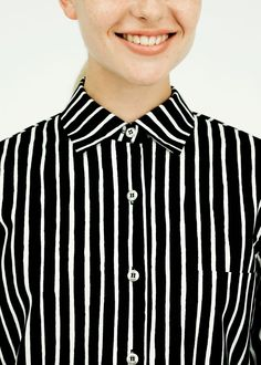 Marimekko Jokapoika shirt designed by Vuokko Nurmesniemi. Marimekko, Collar Shirts, Timeless Design, Capsule Wardrobe, Fashion Brands, Shirt Designs, Street Style, Style Inspiration, My Style