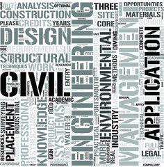 CivilEngineering Word Cloud Concept