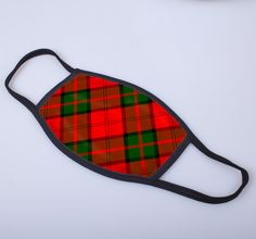 non medical face covering with Dunbar printed tartan - only from ScotClans