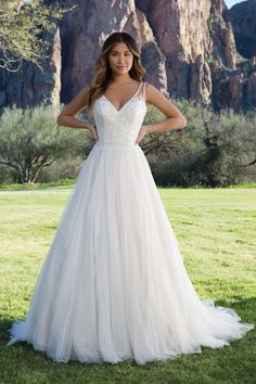 Sweetheart Gowns - Style 1144  Layered English Net Ball Gown with Low Scoop  Back Striped d3c073aab3