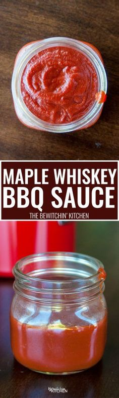 Maple Whiskey BBQ Sauce. This easy homemade barbecue sauce recipe goes great on grilled chicken and ribs.
