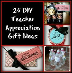 25 DIY Teacher Appreciation Gift Ideas - Show your appreciation for your child's teacher with these creative gift ideas. They're frugal & easy to make.