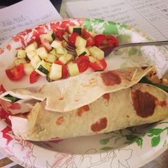 We're so lucky that BOTH of our CEOs can cook! Chicken hummus wraps from Heather.