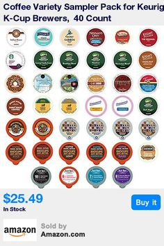 This Coffee variety pack of cups works in all Keurig k cup brewers including the 1.0 & 2.0 versions * Sample 40 different Coffee's without purchasing Multiple boxes, NO DUPLICATES * Find your Perfect Cup of Coffee in our variety pack; Our sampler pack was created exclusively for people who love Coffee * Cups are repackaged and not in original packaging, items may appear in different packaging then portrayed in the image and in a different variety of flavors; K Cup, Green Mountain and Keurig