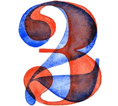Watercolor Numbers on Typography Served